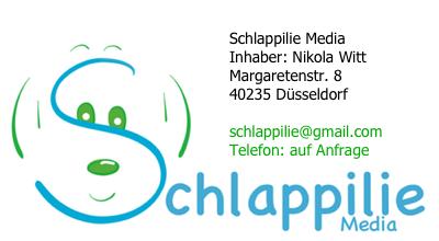 Schlappilie Media / Inhalber: Nikola Witt / Margaretenstr. 8 / 40235 Düsseldorf / schlappilie@gmail.com